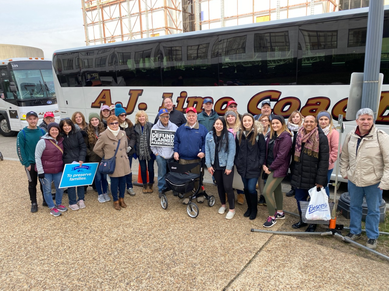 Local Group at March for Life 2020