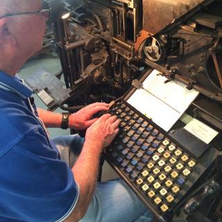 Linotype setting