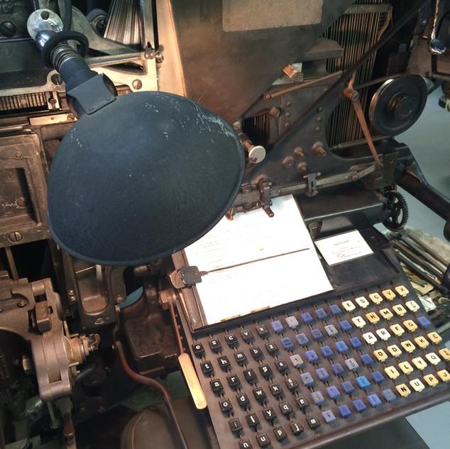 Linotype keyboard