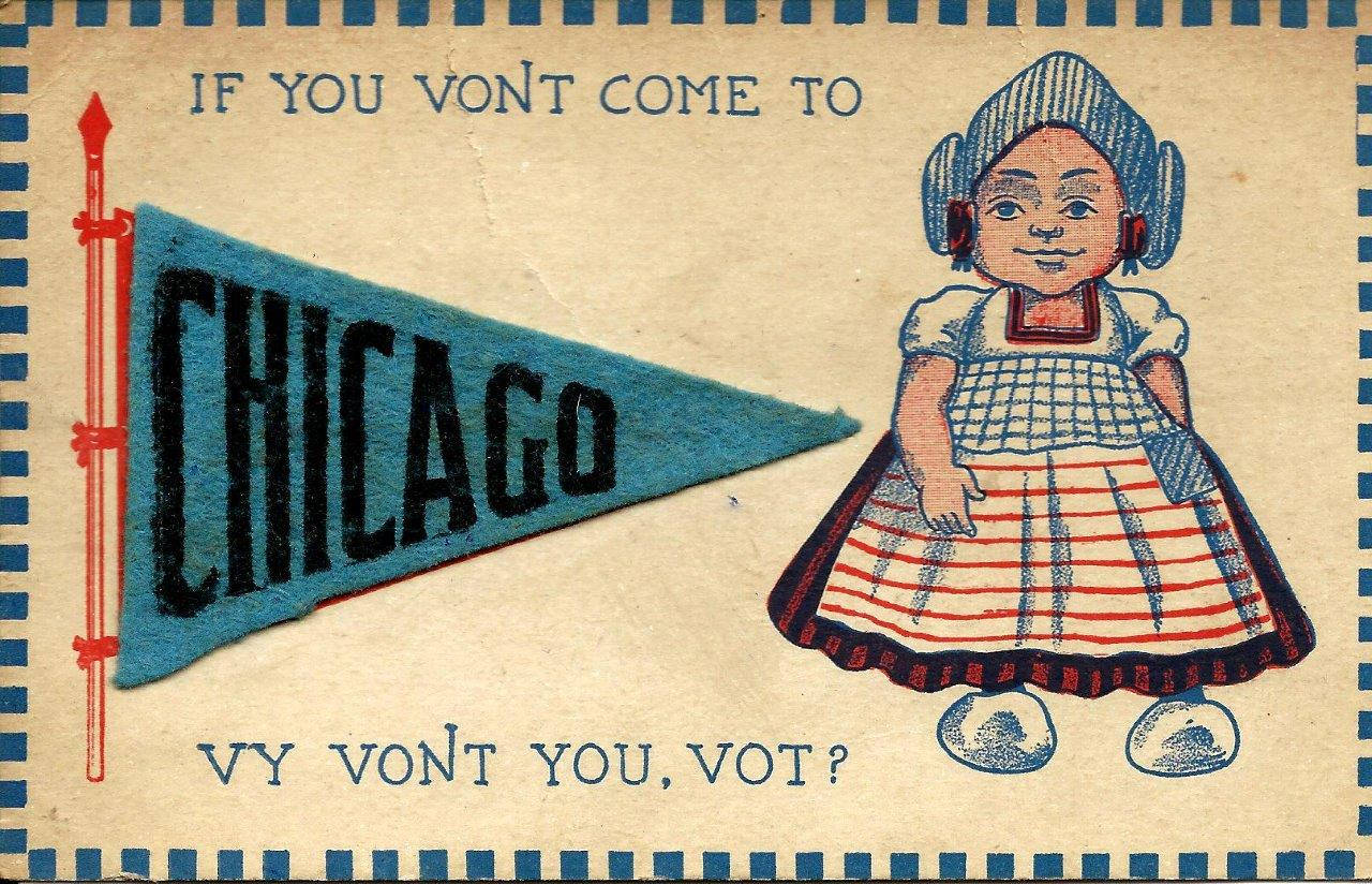 Postcard 50 If you vont come to Chicago.