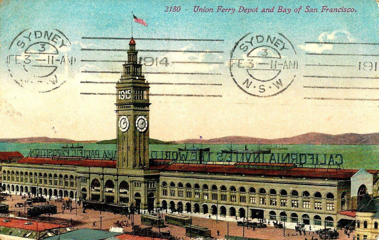 Postcard 9 California Invites the World.