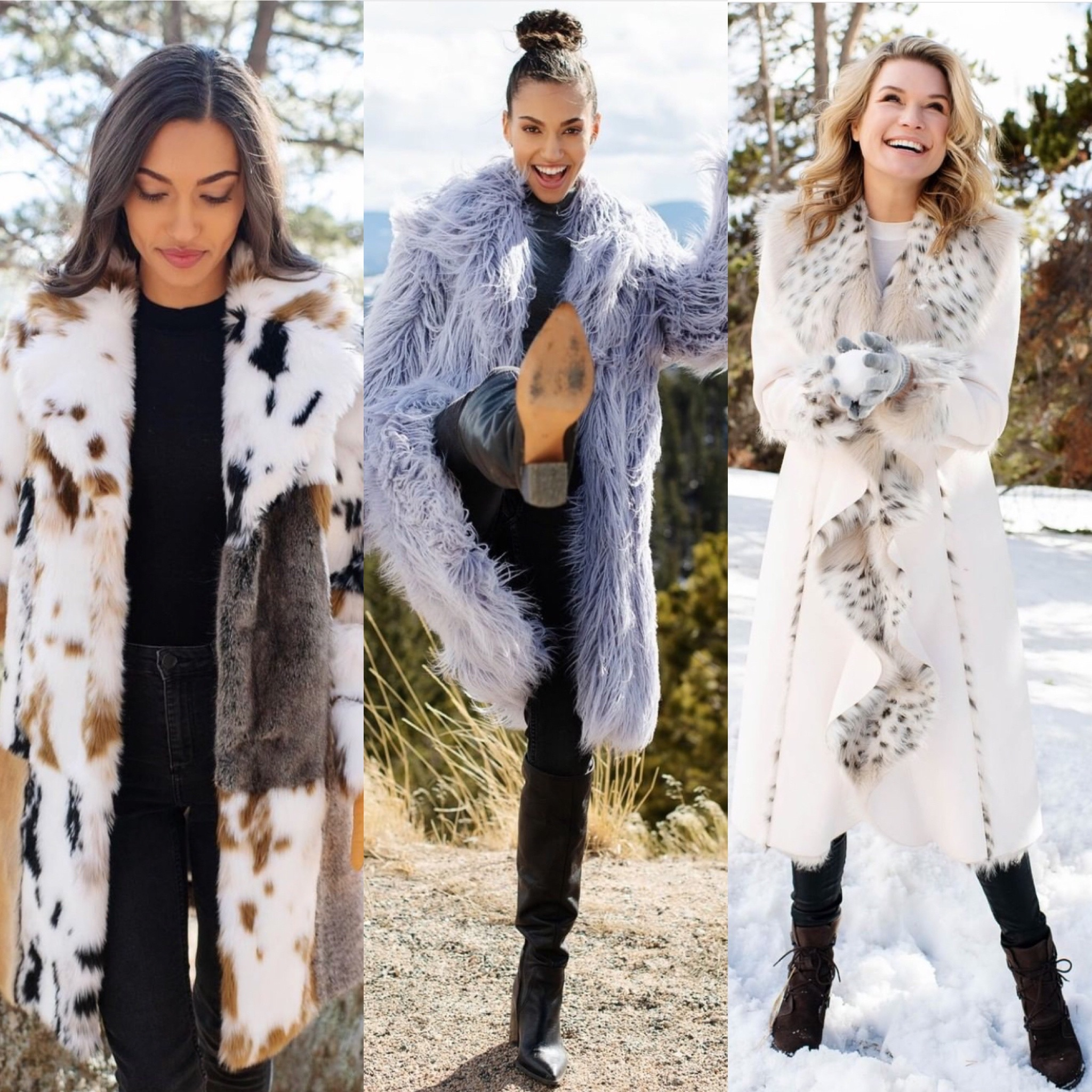 Photoshoot for Fabulous Furs a Faux fur company