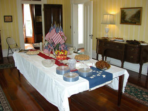 TABLE IN ORMAN HOUSE