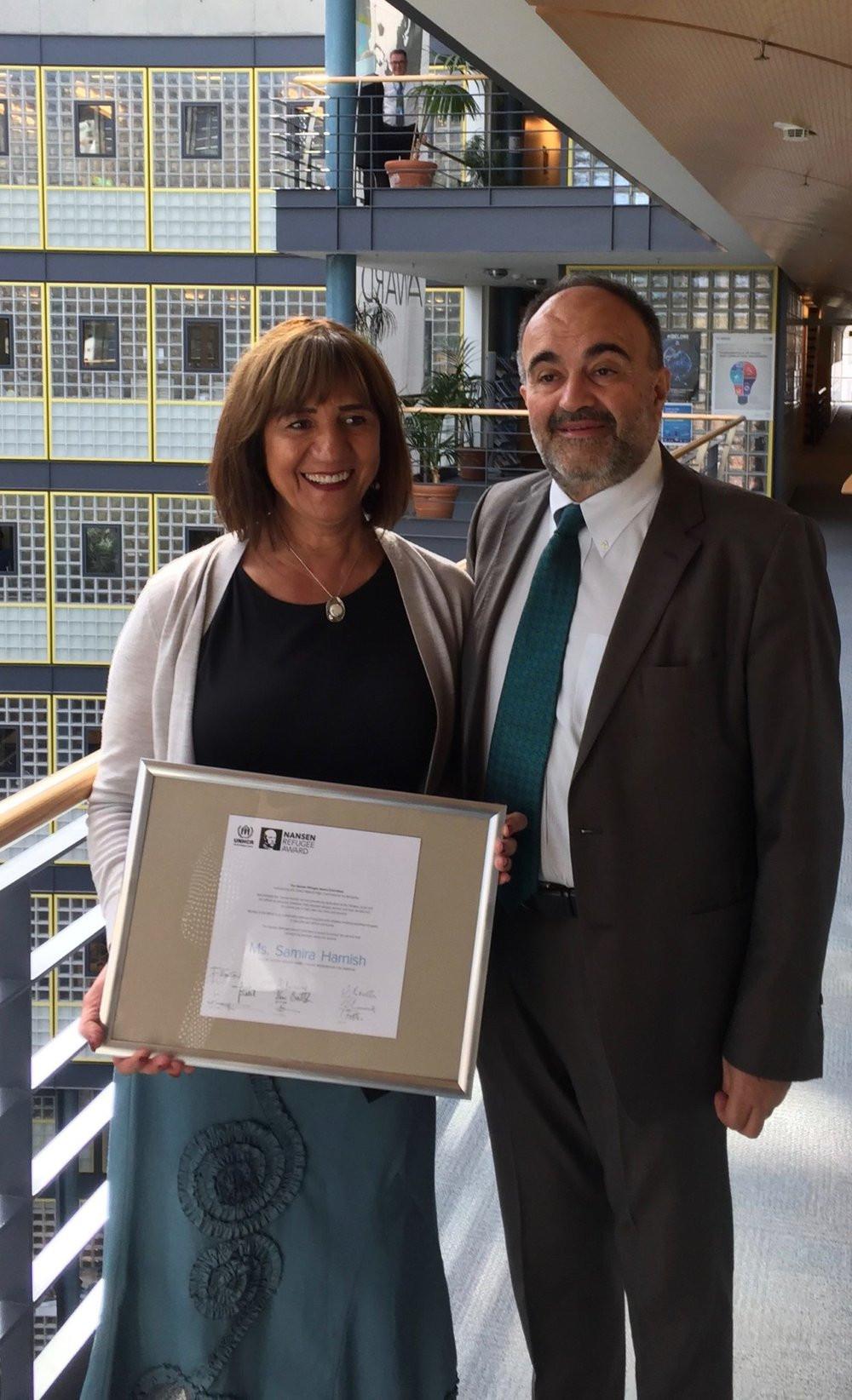Samira & Nansen Award.jpg