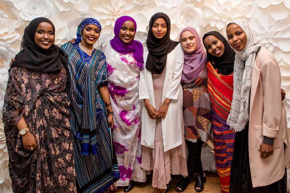 Young Salt Lake City refugees in their colorful hijabs