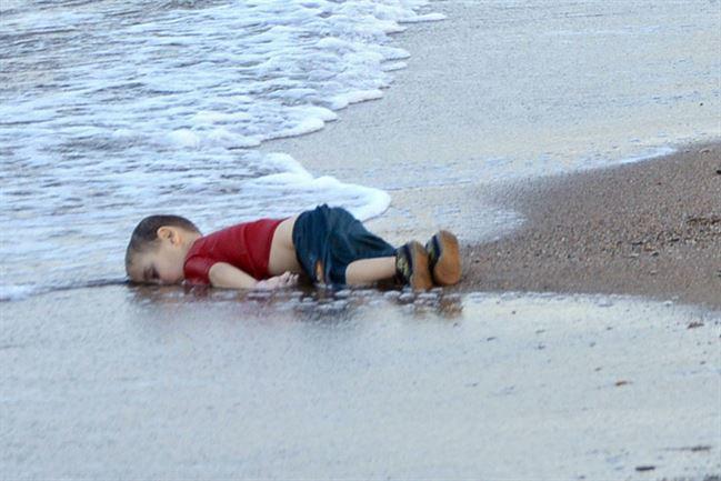 Aylan Kurdi Drown Syrian Toddler - 9/3/2015. Photograph from MSNBC