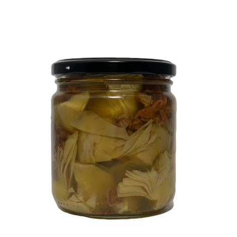 MEDITERRANEAN ARTICHOKE QUARTERS IN OLIVE OIL WITH SUN DRIED TOMATOES