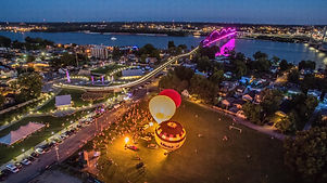 Steamboat days balloon glow