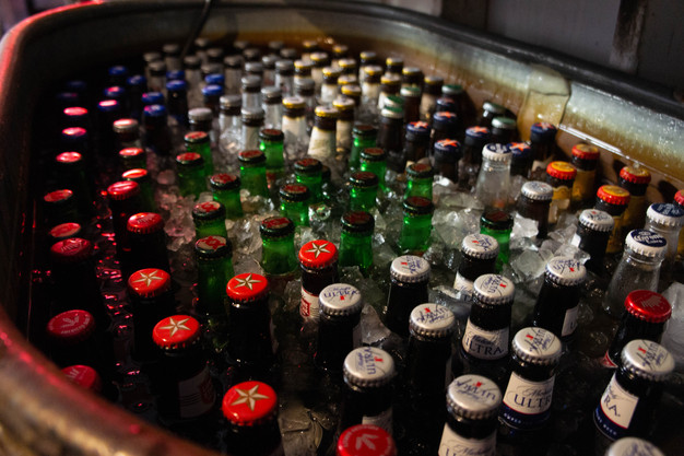 Variety of bottled beers