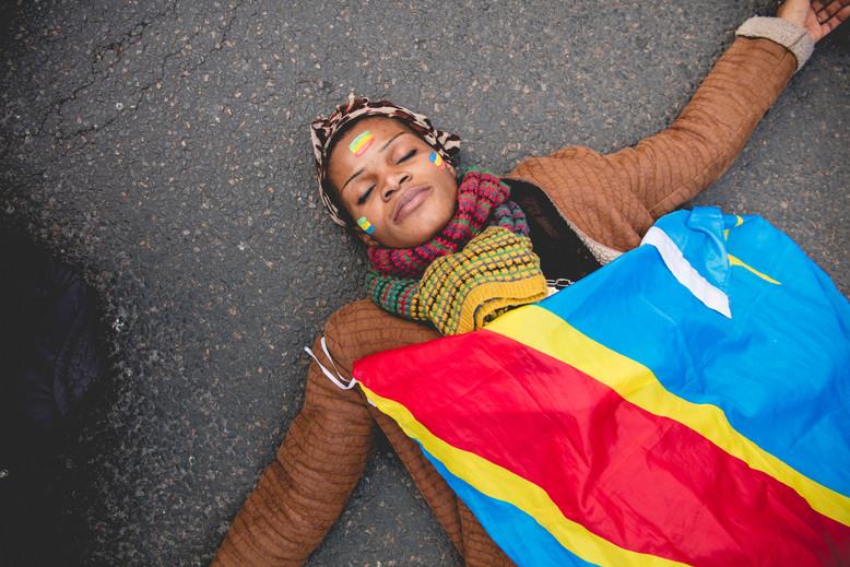 Congo demostration against Joseph Kabila. Trocadero, November 19th, 2016.