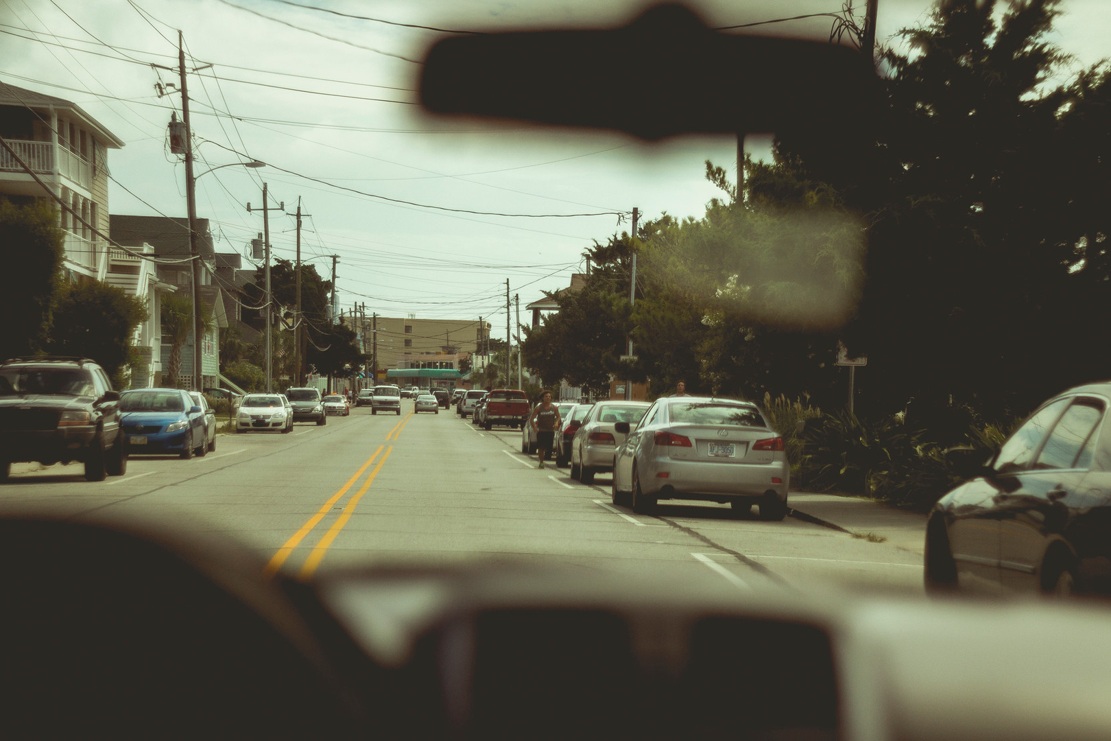 View from the car, Wilmington, North Carolina , August 2013