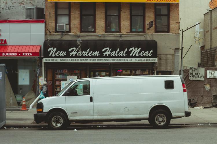 A Van is parked in Harlem. December 2014