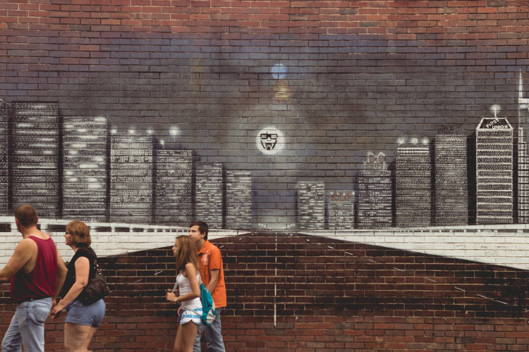 Murales in the streets of Nashville, Tennessee, August 2013