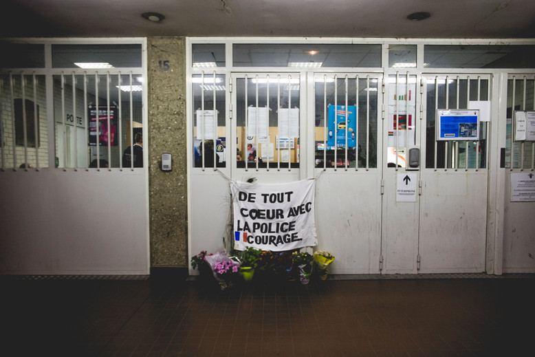 Police Command in Saint Denis, Paris, more than a year after the attacks. December 9th, 2016