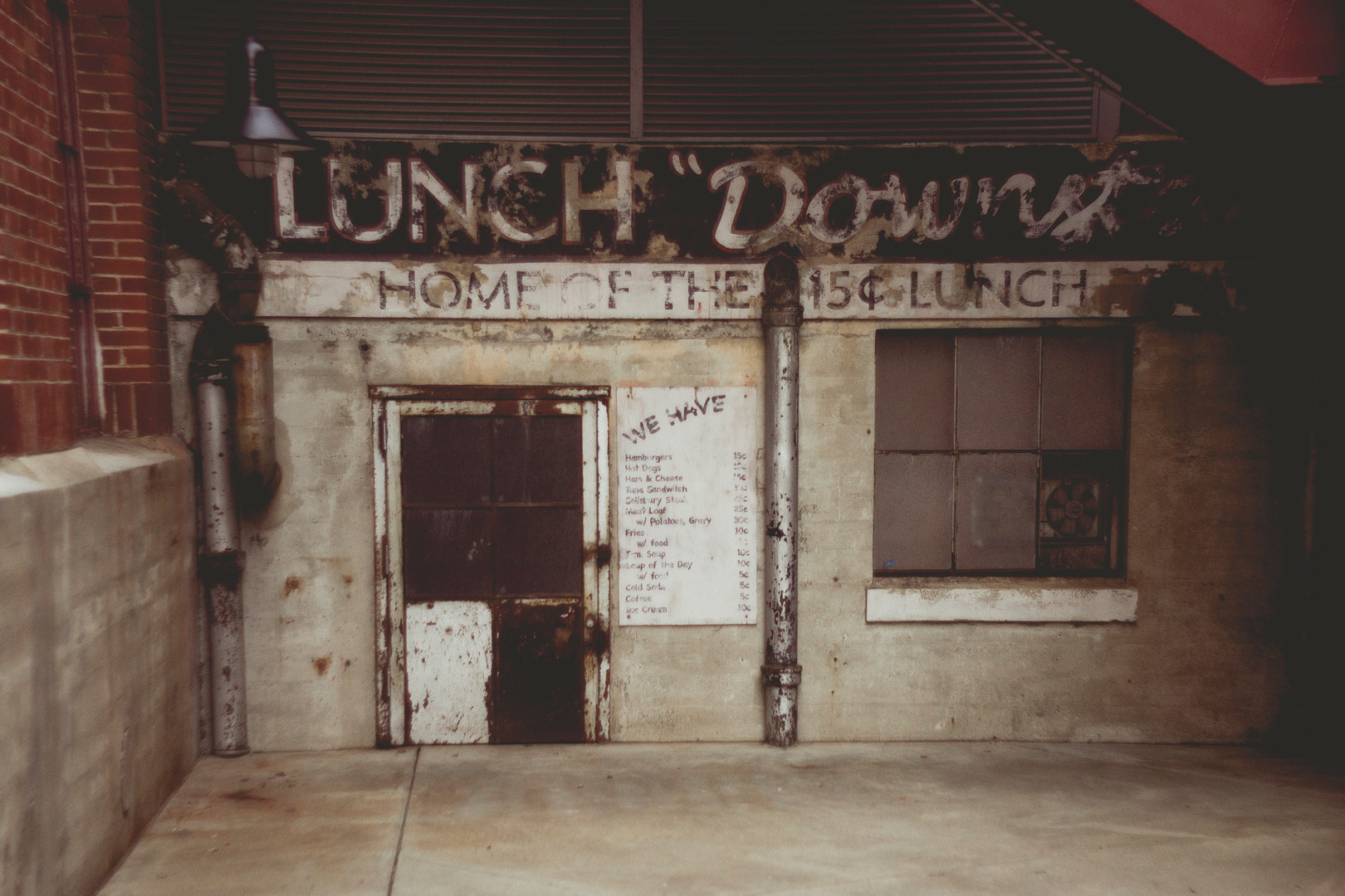 Old diner in the American Tobacco district, August 2013