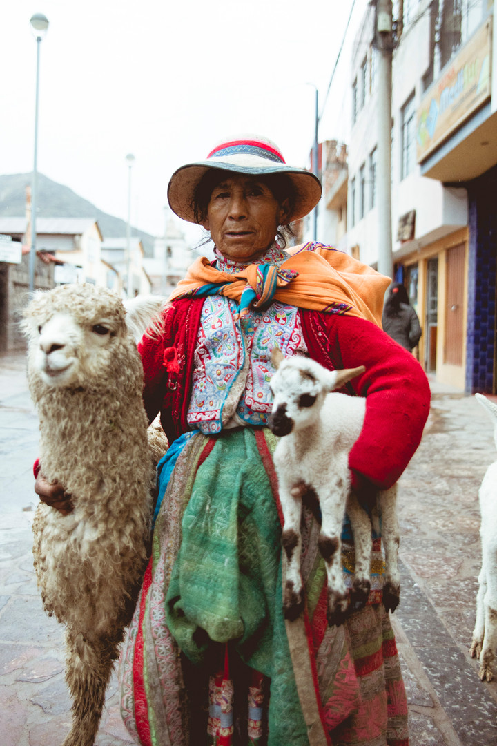 Typical dressed Peruvian Woman, Chivay, Perù, February 2017