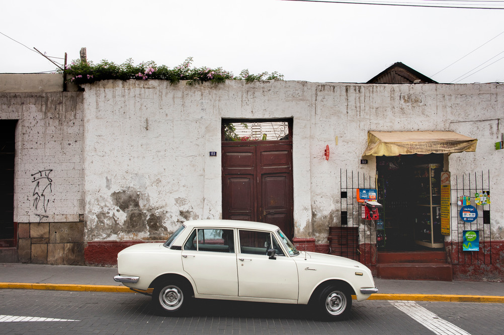 Car Parked in Arequipa, Perù, February 2016