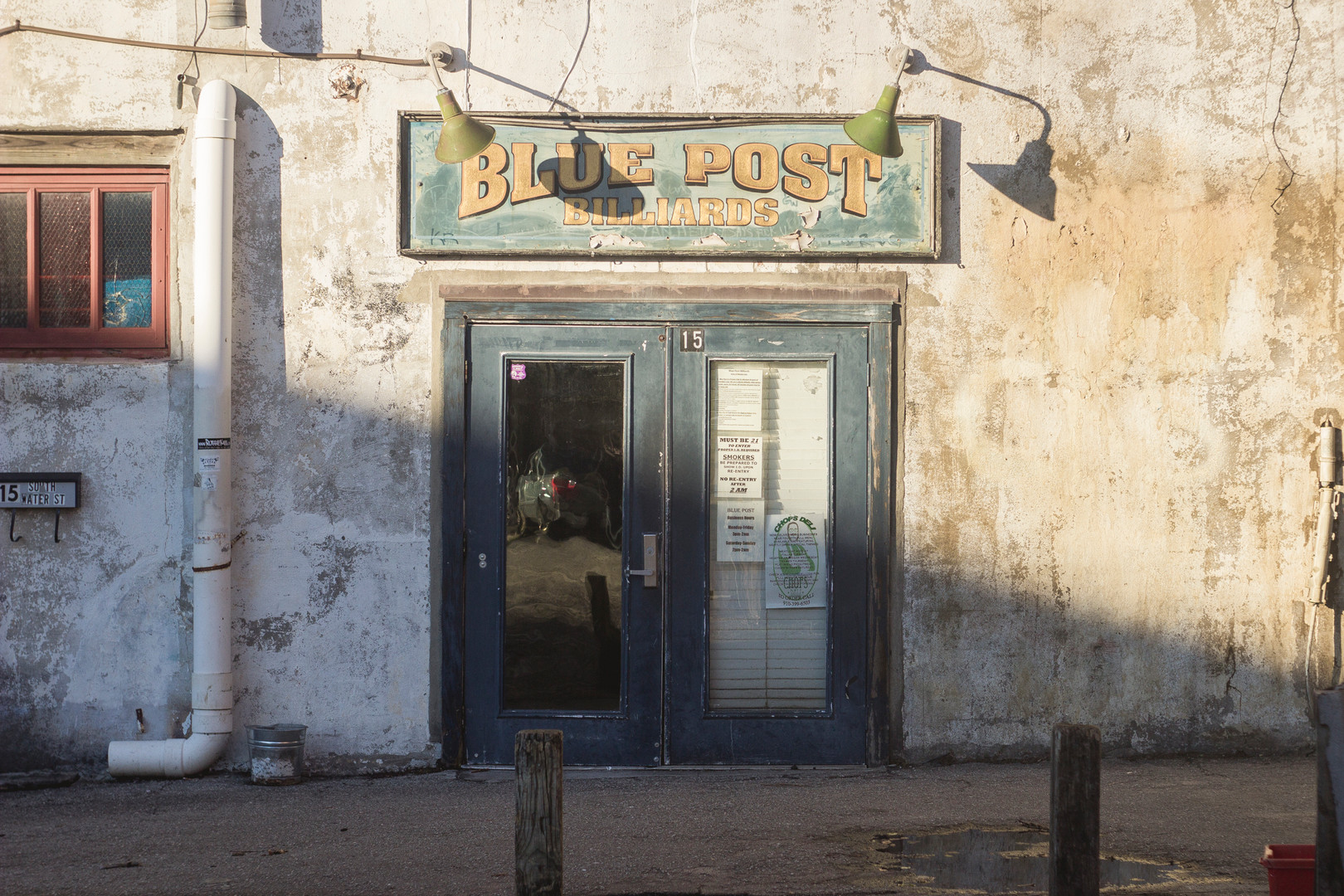 Blue Post Bar, Store Front, Wilmington December 2014