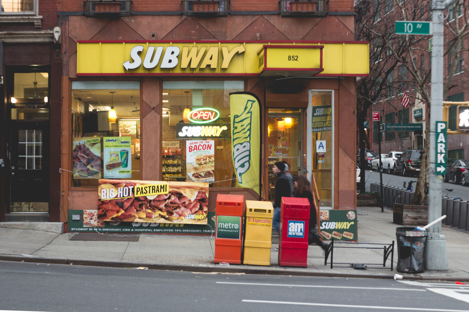 Subway store front, Manhattan, December 2014