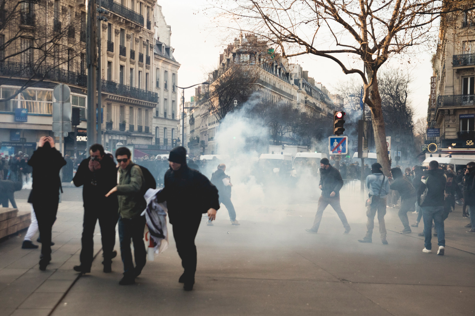 """Justice por Theo"" People demonstrating againt police violences in Republique, Paris, February 2017"