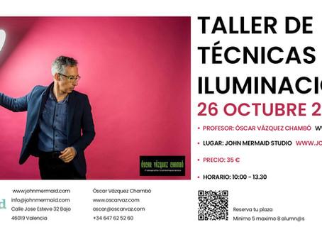 Taller de Técnicas de iluminación  con Óscar Vázquez Chambó 26/10/2019