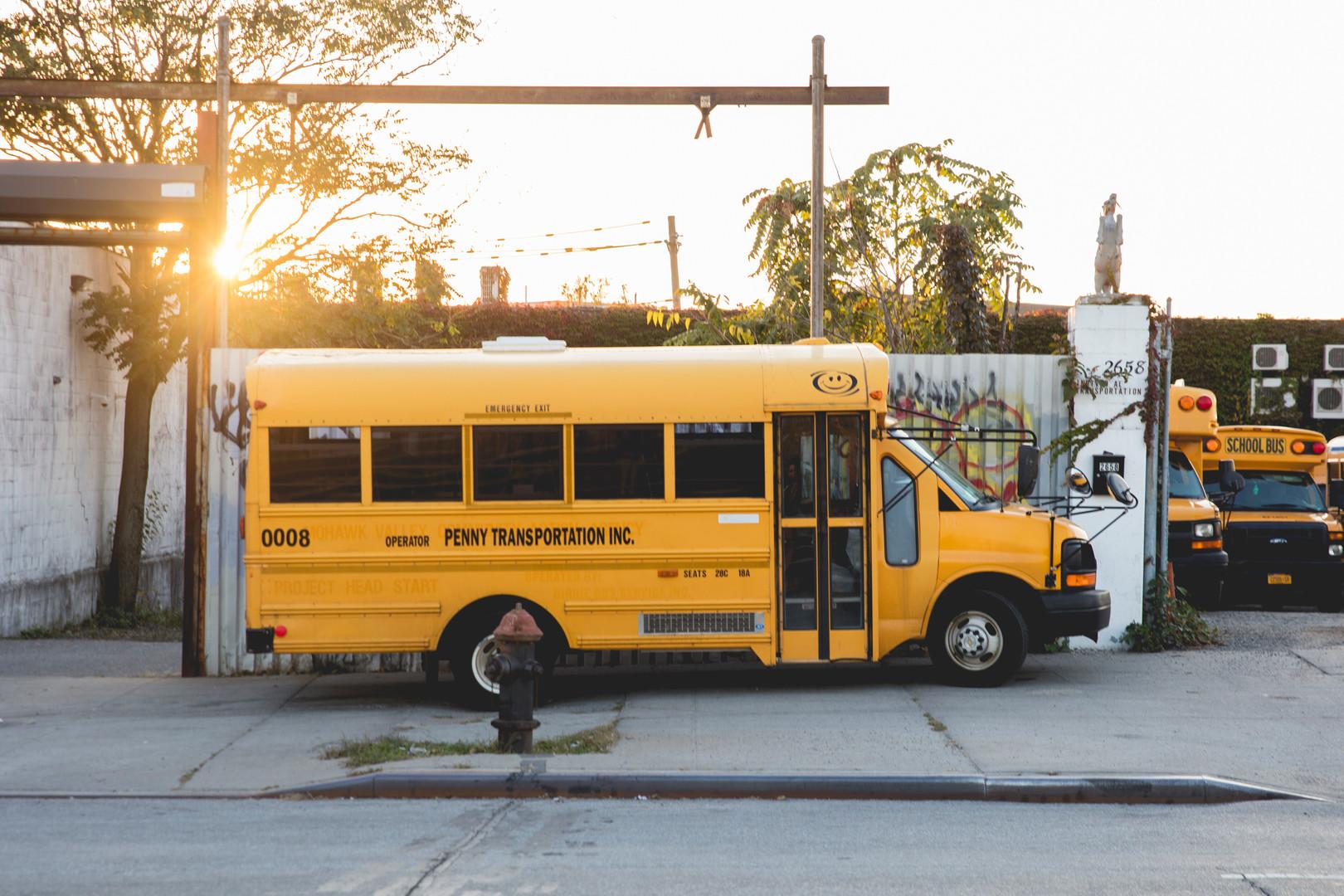 Schoolbus in Coney Island, October 2015