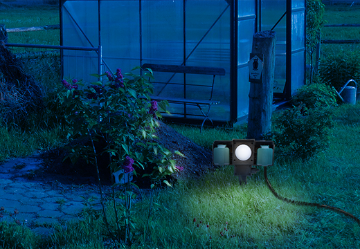1472 Outdoor Socket - greenhouse - night time
