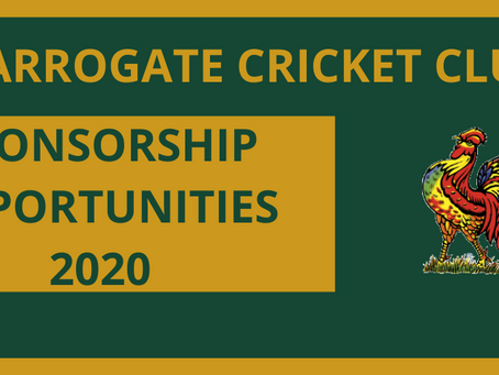 Sponsorship opportunities at Harrogate Cricket Club
