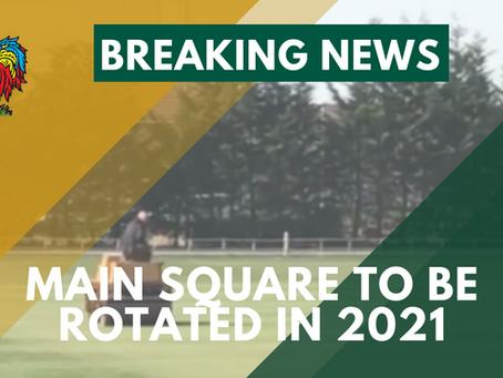 Harrogate CC to rotate the square for 2021 season
