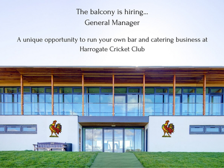 The balcony is hiring: General Manager