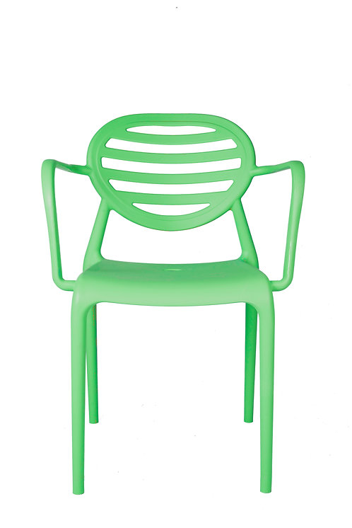 STRIPE CHAIR WITH ARMRESTS