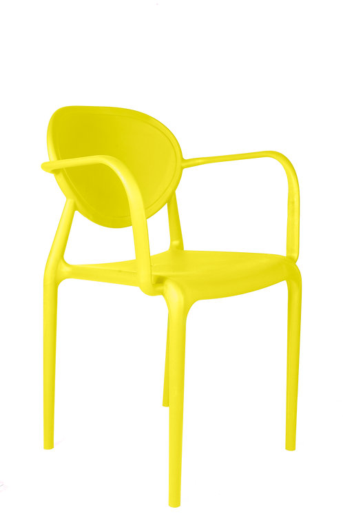 SLICK CHAIR WITH ARMRESTS