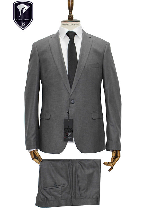 Gri Slimfit Takım Elbise