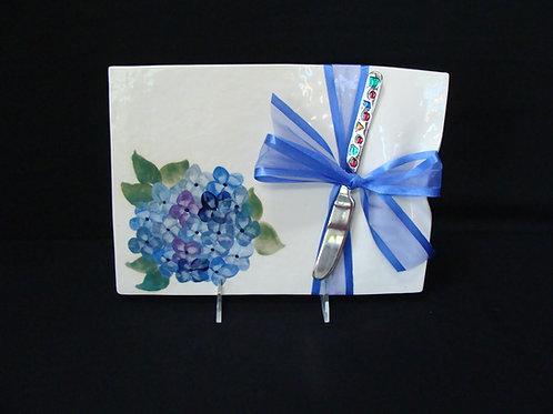 Blue Hydrangea Cheese Platter