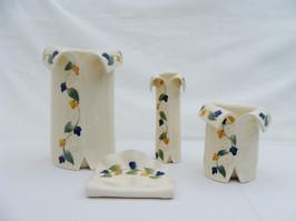 Vine Blue and Yellow Vases.JPG
