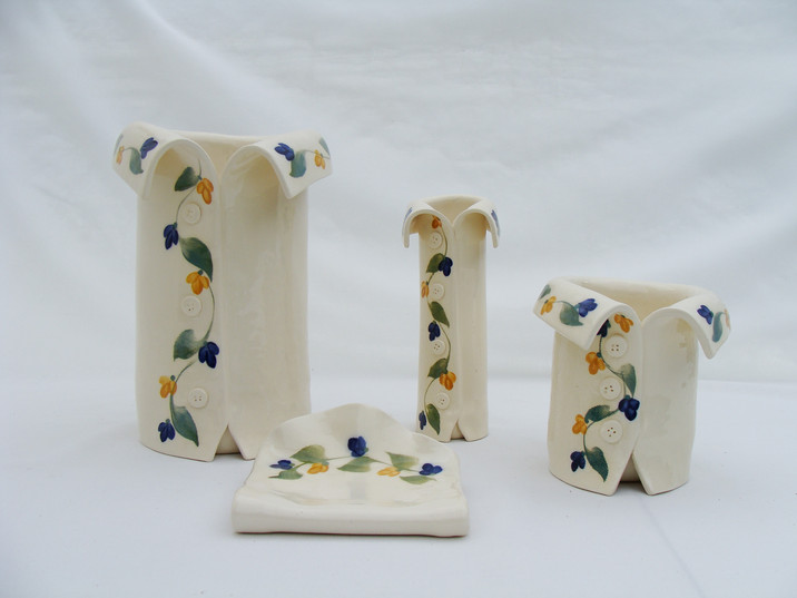 Vine Blue and Yellow Vases.JPG