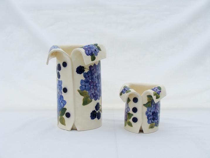 Blue Hydrangea Vases.JPG