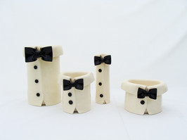 Bow Tie Black and White Vases.JPG