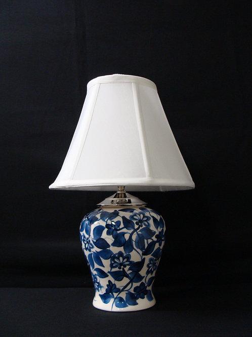 Dark Blue Floral Lamps