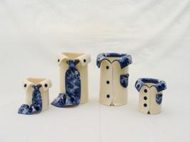 Dark Blue Leaf Vases.JPG