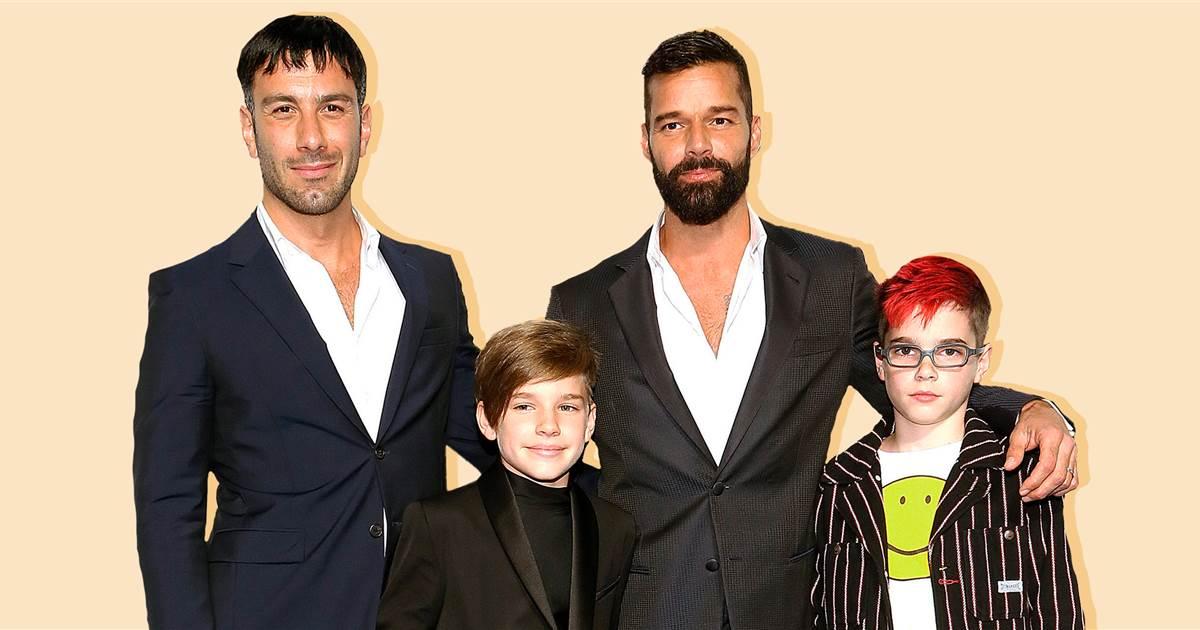Ricky Martin & family