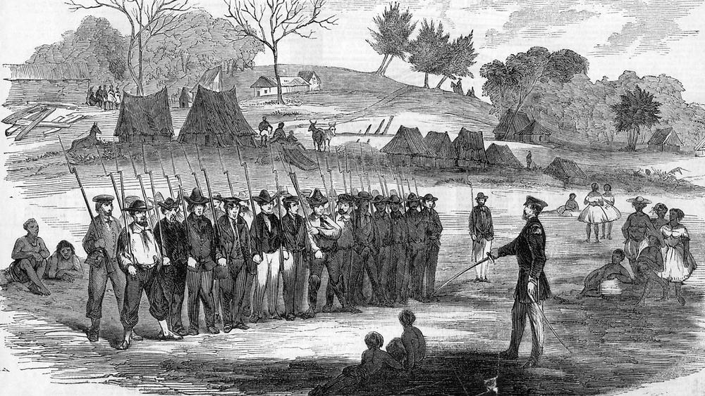 William Walker preparing troops.