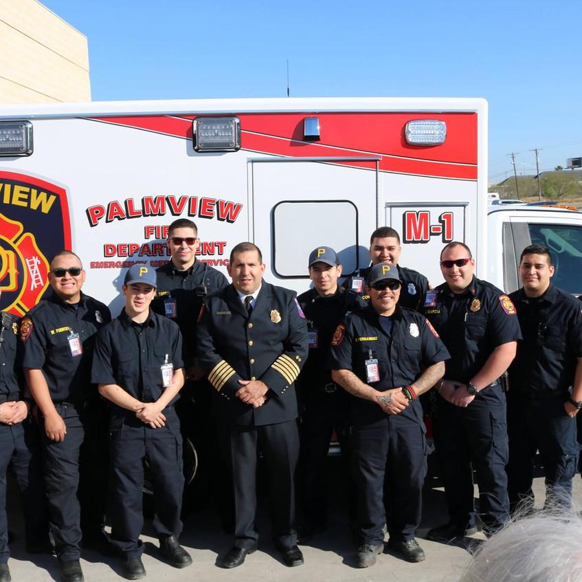 Palmview FD/EMS Staff with Ambulance