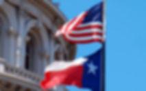 U.S. Texas flag capitol