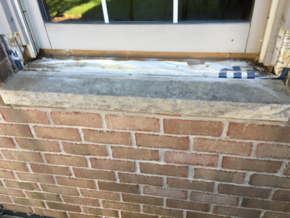Rotten Window sills and nose's were removed and replaced, sealed and pained to match.