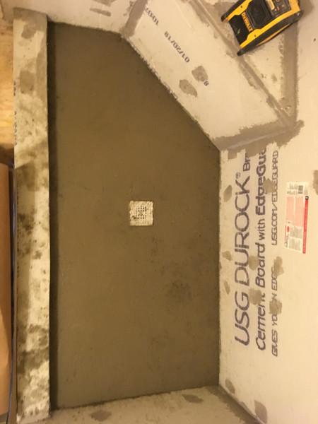 Hallway Bathroom Remodel & Shower Pan Instillation