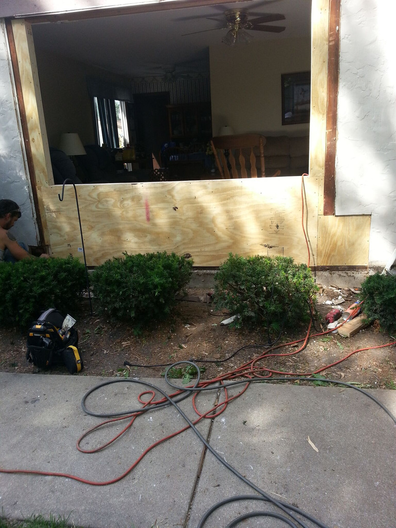 Wall Rebuild & Window Replacement