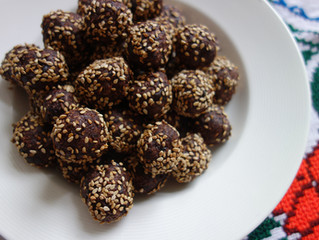 Dark Chocolate Coconut Plum Truffles