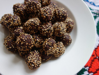 Dark Chocolate Coconut Plum Truffles
