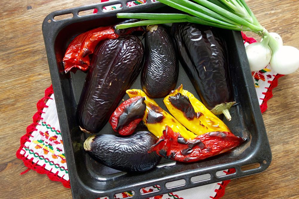 Zacusca eggplants